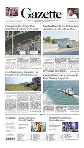 Carolina Beach Inlet Tide Chart Island Gazette July 30th 2014 By Island Gazette Newspaper