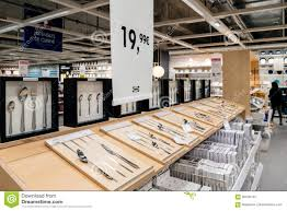 Ikea Tableware And Cutlery Shopping Price Editorial Stock Image
