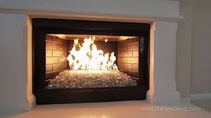 how to install an h burner and fire glass in your fireplace by from fireplaces with