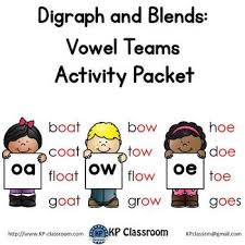I hope to get a more information up. Digraph Oa Ow Oe Vowel Teams Activity Packet And Worksheets By Kp Classroom