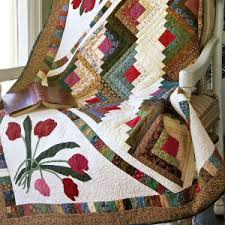 appliqued log cabin block quilts | Dive into your scrap basket for ... & Log cabin quilts Adamdwight.com