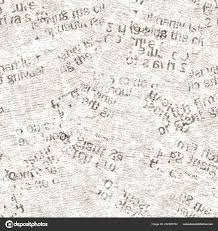 Newsprint Texture Background Newspaper Old Grunge Collage Seamless Pattern Unreadable