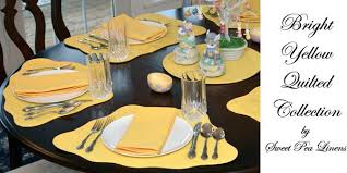 round yellow placemats sweet pea linens bright yellow solid quilted for round tables come in wedge