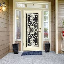 black metal screen doors. Sentry Door Premium Aluminum Security Doors On Black Metal Screen
