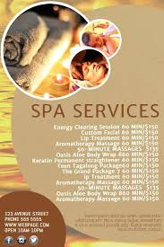 Spa Salon Price List Template Day Flyer – Rigaud