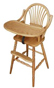 amish classic sheaf wooden highchair