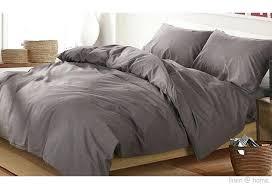 linen home washed cotton duvet cover set light grey dark grey duvet cover full dark grey
