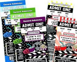 Movie Night Invitation Templates Movie Invitations Template Themed Invitation Wedding Templates
