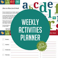 Make It Easy To Plan Your Week With Fun Activities Hands On As We