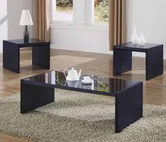 modern glass black coffee table sets