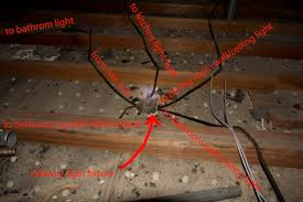 Attempting To Add Bathroom Vent Fan Ran Into Electrical Octopus - Bathroom venting into attic