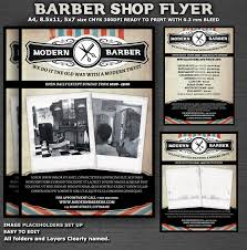 barber flyer barber shop flyer template psdbucket com