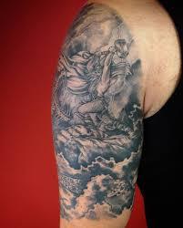 Thor Tattoo Darkness Clouds Lightning Midgard Jormungand