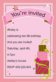 Girl Fun Birthday - Free Printable Birthday Invitation Template ... Girl Fun Birthday - Printable Birthday Invitation Template