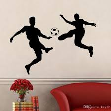 new soccer players football wall stickers wall decal for kids room sport football sticker boy bedroom mural home decor decals wall decals wall art from