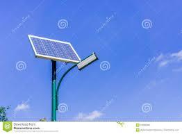 Solar Powered Street Light Pole Stock Image Image Of Power