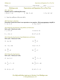 eq05 solving two step equations eq06 multi step equations combining like terms variables on both sides eq07 multi step equations with pahesis