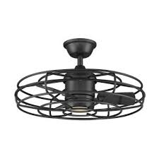 caged ceiling fans with lights