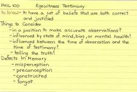 one way of improving eyewitness testimony critical issue eyewitness testimony