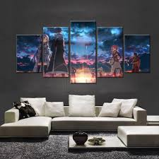 sword art online wall art canvas