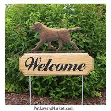 welcome sign with chocolate labrador retriever chocolate lab welcome sign and dog sign