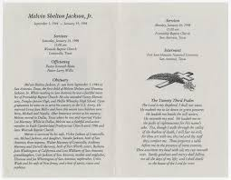 Funeral Program for Melvin Shelton Jackson, Jr., January 24, 1998] - Page 2  of 5 - The Portal to Texas History