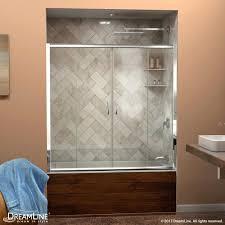 glass bath doors frameless visions sliding tub door glass tub doors frameless home depot