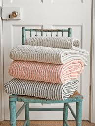 Nothing says fall like a pile of fabulous quilts stacked on a ... & THESE Quilted ticking stripe coverlets Adamdwight.com