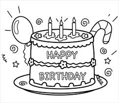 9 Happy Birthday Coloring Pages Free Psd Jpg Gif Format