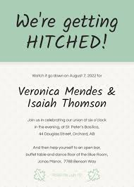 Wedding Invitation Templates With Photo Simple Funny Wedding Invitation Template