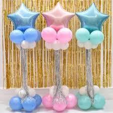 <b>13pcs</b>/<b>set Blue and</b> Pink Digital Number Crown Aluminum Foil ...