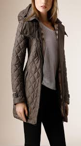 Lyst - Burberry Diamond Quilted Coat in Gray & Be Inspired Adamdwight.com