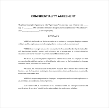 Confidentiality Agreement Samples 10 Confidentiality Agreement Templates Free Sample Example
