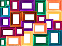 window frame collage colorful collage of frames frame