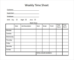 Weekly Timesheet Template Weekly Timesheet Timesheet