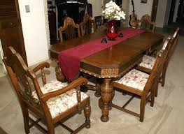 antique dining table and chairs vintage dining room table awesome marble sets round glass for 9