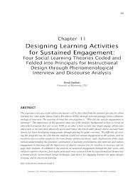 Designing Learning Activities Pdf Designing Learning Activities For Sustained Engagement