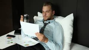 hot office pic. modren hot business man drink hot coffee morning breakfast beverage in home office bed  room to pic