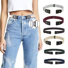 <b>AWAYTR Unisex Buckle Free Elastic</b> Belt For Jeans Pants Dress ...