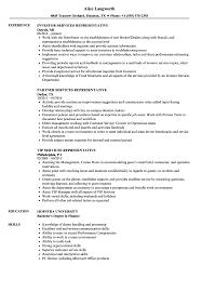 Services Representative Resume Samples Velvet Jobs