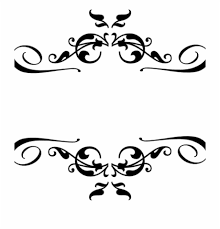 Simple Border Designs For Project Swirls And Hearts Corner Border Clipart Black Heart And Bows Corner Borders