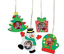 foam christmas holiday picture frame ornament craft kit pack of 12 kits