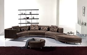round living room furniture. Circular Sofas Living Room Furniture Unique White Curved Sectional Sofa With Cowhide Rug And Ottoman For Round