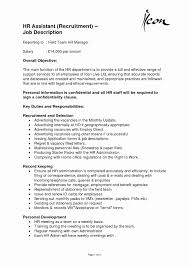 Hr Administrator Cover Letter Sample Luxury Hr Assistant Resume