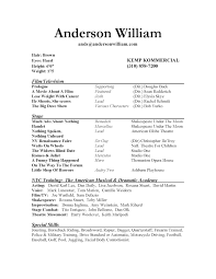 Theatre Resume Format It Resume Cover Letter Sample