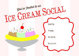 Ice Cream Party Invitation Wording Social Flyer Template Free ...