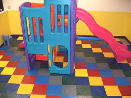 children s play area made with cushion tiles