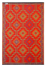 lhasa orange violet indoor outdoor rugs orange side