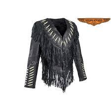 women s shortened western style leather motorcycle jacket