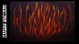 How to Paint Realistic Fire // GRAFFITI TUTORIALS - YouTube